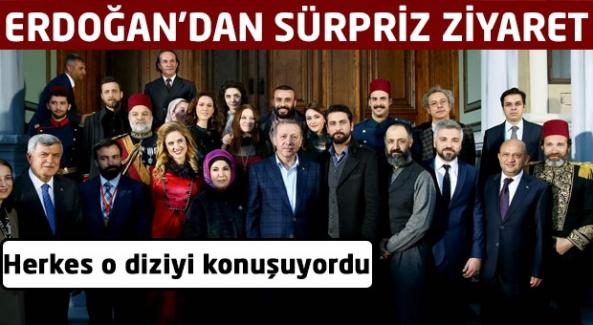Cumhurbaşkanı Erdoğan Filinta dizisinin setinde