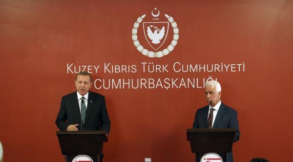 Cumhurbaşkanı Erdoğan, Kktc Cumhurbaşkanı Eroğlu İle Ortak Basın Toplantısı Düzenledi (fotoğraflar)