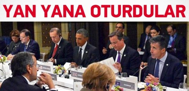 Cumhurbaşkanı Erdoğan Obama ile bir arada