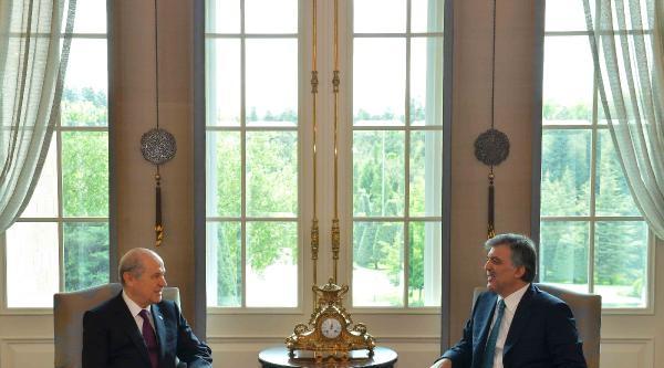 Cumhurbaşkanı Gül, Bahçeli'yi Kabul Etti
