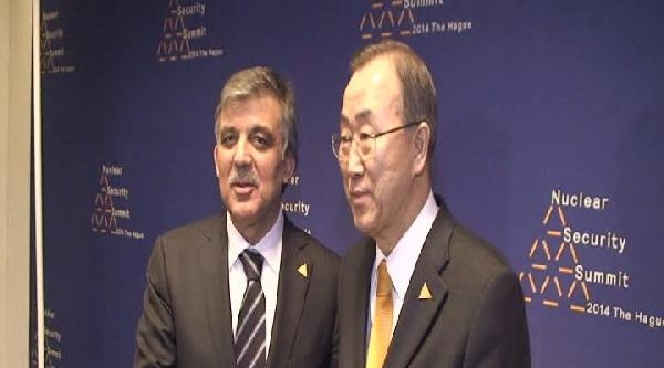 Cumhurbaşkanı Gül, Bm Genel Sekreteri Ban Ki Moon İle Görüştü