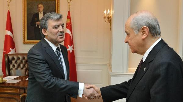 Cumhurbaşkani Gül Ile Bahçeli Çankaya Köşkü'nde Görüştü
