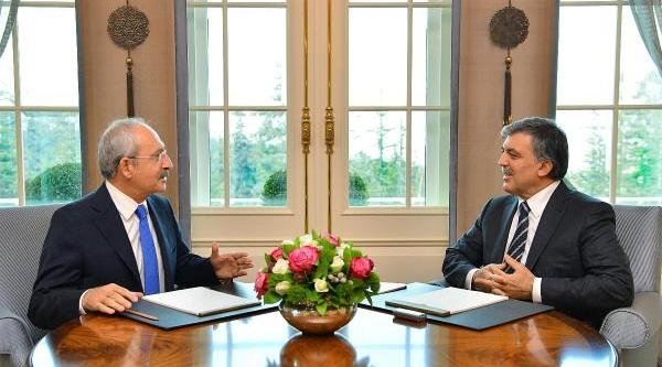 Cumhurbaşkani Gül Ile Kiliçdaroğlu, 'hsyk'yi Görüştü