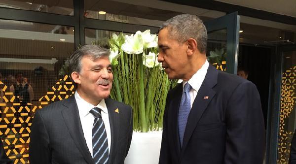 Cumhurbaşkanı Gül, Obama İle Sohbet Etti