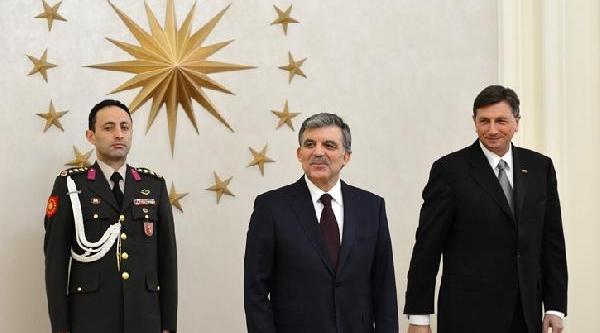 Cumhurbaşkani Gül Slovenya Cumhurbaşkani Pahor'u Yemekte Ağirladi