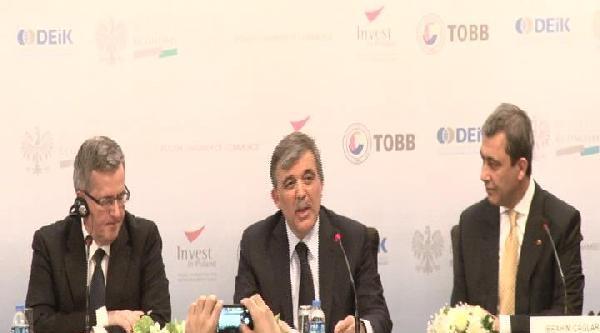 Cumhurbaşkanı Gül Türk-polonya İş Forumu'nda Konuştu