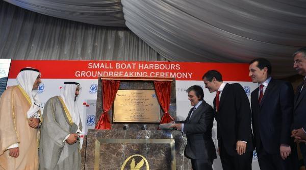 Cumhurbaşkanı Gül, Türk Şirketi'nin Yapacağı Küçük Bot Limanı Temel Atma Törenine Katıldı