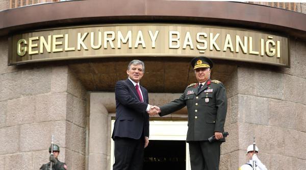Cumhurbaşkanı Gül'den, Orgeneral Özel'e Veda Ziyareti