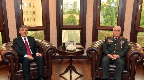 Cumhurbaşkanı Gül'den, Orgeneral Özel'e Veda Ziyareti / Ek Fotoğraflar