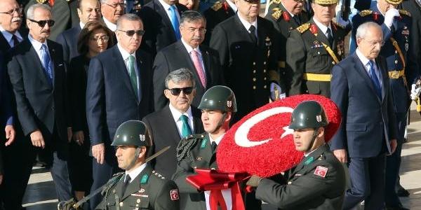 Cumhuriyet Bayrami Dolayisiyla Anitkabir'de Tören Düzenlendi
