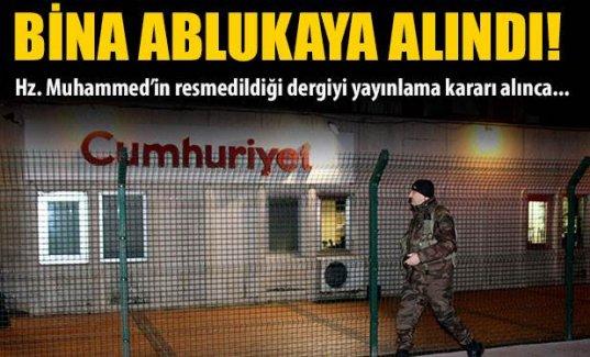 Cumhuriyet Gazetesi'ne çıkan sokaklar kapatıldı