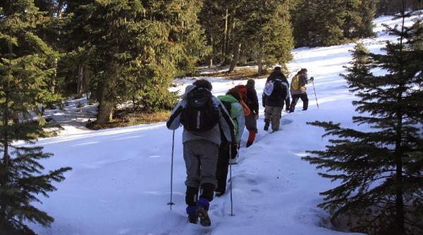 Dağcıların Ilgaz Dağı'da Zirve Keyfi