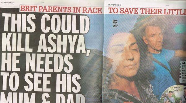Daıly Mırror: Ashya Ve Ailesine Yapılanlar Barbarlık