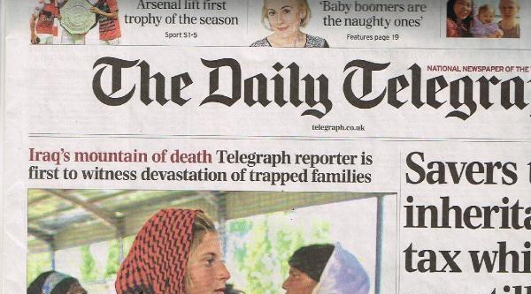 Daıly Telegraph Sincar'da Son Durumu Yazdı: Irak'daki Ölüm Dağı