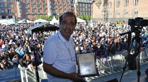 Danimarka Anadolu Kültür Merkezi'nden Arkadaşımız Ünsal Turan'a Ödül