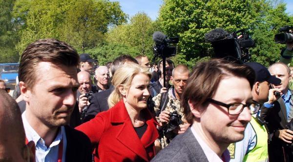 Danimarka Başbakanı Schmıdt, 1 Mayıs Kutlamalarında Protesto Edildi