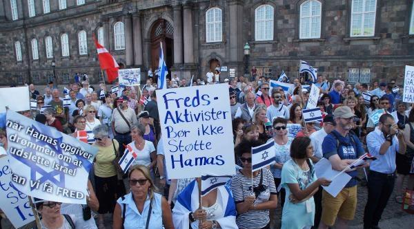 Danimarka'da Gazze Saldırılarını Protesto Edenler Ve Destek Verenler Karşı Karşıya Geldi