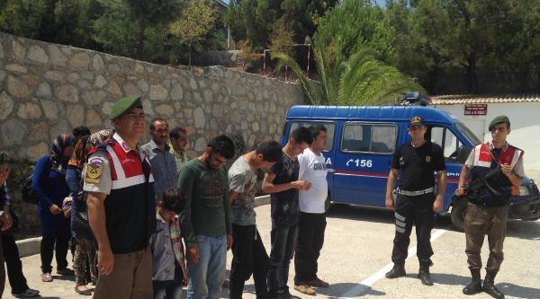Datça'da 98 Yabancı Uyruklu Kaçak Yakalandı