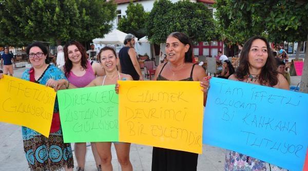 Datçalı Kadınlardan Arınç'a Kahkahalı Protesto