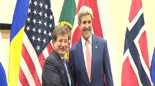 Davutoğlu, Abd Dışişleri Bakanı John Kerry İle Görüştü