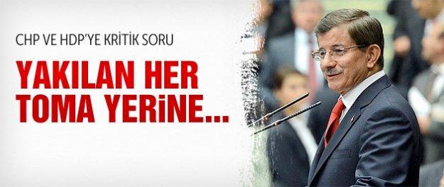 Davutoğlu CHP ve HDP'den bu soruya yanıt istedi