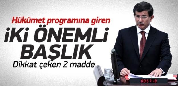 Davutoğlu hükümet programını okudu