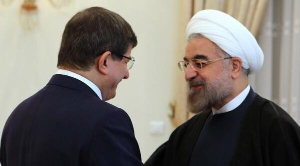 Davutoğlu, Iran Cumhurbaşkani Ruhani Ile Görüştü