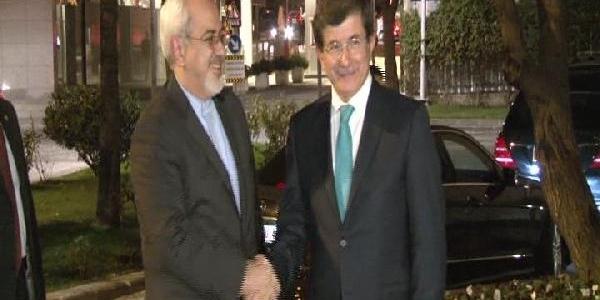 Davutoğlu, Iran Dişişleri Bakani Muhammed Cevad Zarif Ile Görüştü
