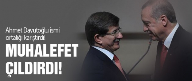 Davutoğlu ismine muhalefetten tepki!