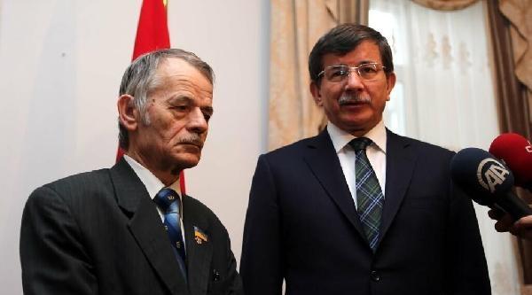Davutoğlu, Kiev'de Mustafa Kırımoğlu Ve Aleksandr Turçinov İle Görüştü
