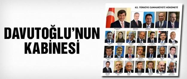 Davutoğlu 'nun kabinesi