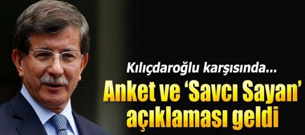 Davutoğlu'ndan Savcı Sayan açıklaması