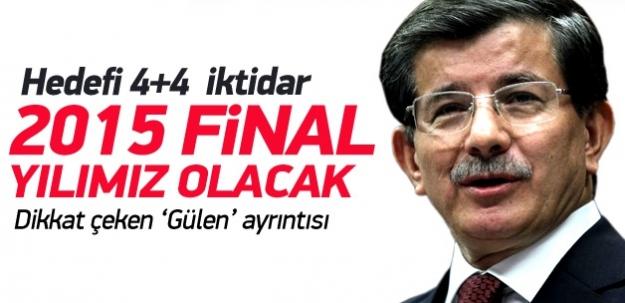 Davutoğlu'nun hedefinin şifresi: 4+4