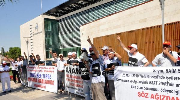 Deba İşçilerinin 'gözaltı' Protestosu