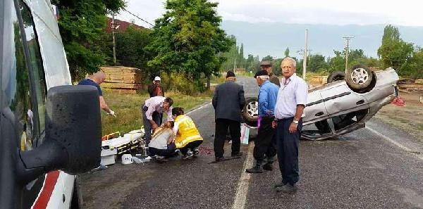 Dede- Torun Kazada Yaralandı