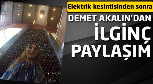 Demet Akalın'dan elektrik kesintisi sonrası ilginç paylaşım