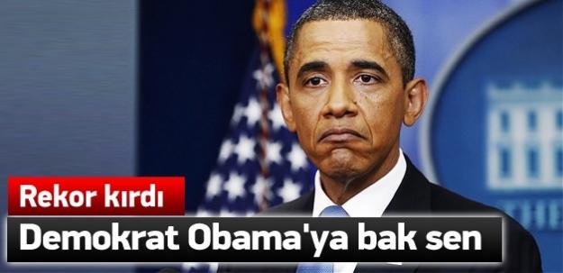 Demokrat Obama'dan inanılmaz rekor!