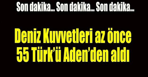 Deniz Kuvvetleri 55 Türkü Aden'den aldı!