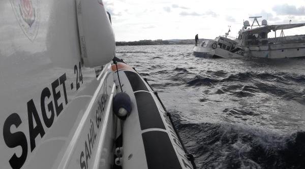 Denizcilerin Yardimina Sahil Güvenlik Koştu