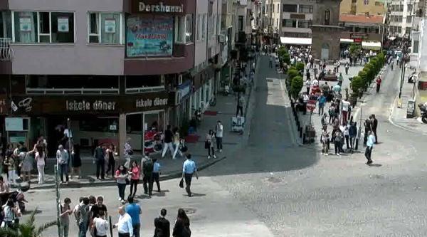 Deprem Anı Mobese Kameralarına Da Yansıdı