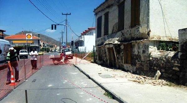 Deprem Yunan Adalarında Da Hasara Neden Oldu