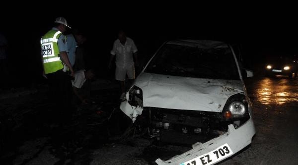 Dereye Uçan Otomobilin Sürücüsü Kazada Yaralandı