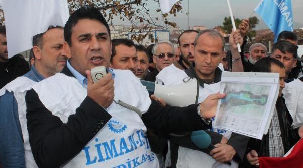 Derince Limani'nda Özelleştirme Protestosu