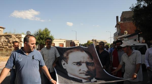 Derinkuyu'da Halk Komadaki Şaban Tunca İçin Yürüdü