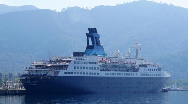 Dev Gemi, Marmaris'e 366 Turist Getirdi
