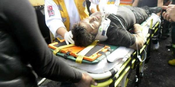 Dev Kamyona Çarpan Kamyonun Şoförü Öldü