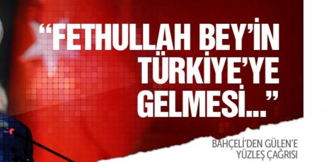 Devlet Bahçeli'den Fethullah Gülen'e yüzleş çağrısı