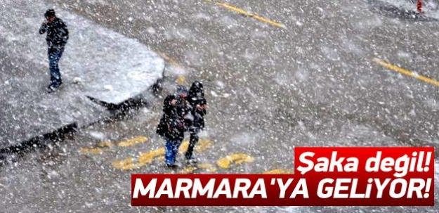 Dikkat! Marmara'ya kar geliyor!