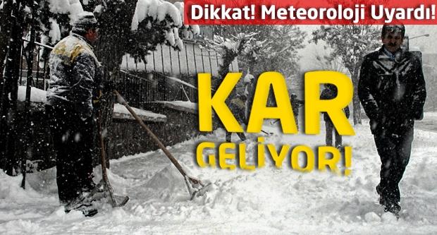 Dikkat! Meteoroloji uyardı!