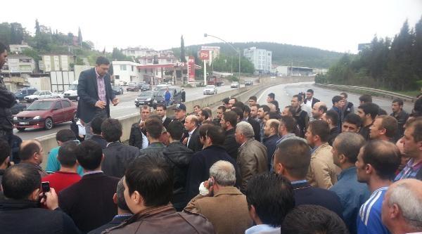 Dilovası'nda D-100 Karayolunda Kaza Protestosu- Fotoğraflar
